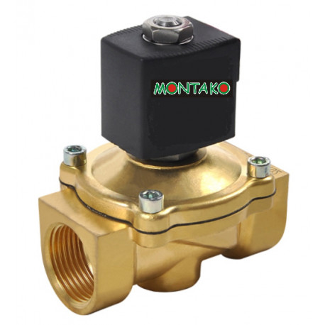 "ventil MP 116-2020, NC, 24V DC, G 3/4"" - mosazný"