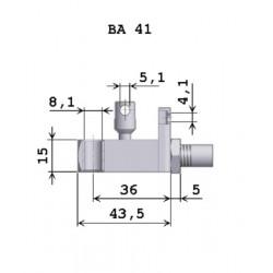 Ovládací hlavice plynové pružiny BA 41