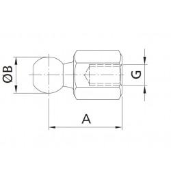 KULOVÝ KLOUB - kulička přímá  CS 10 - M8