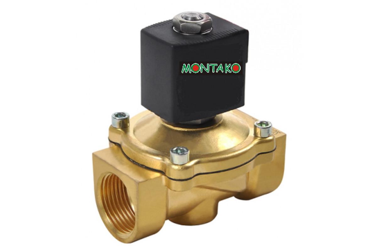 "ventil typu MP-W20020VK, NO, 12V DC, G3/4"" - mosaz"