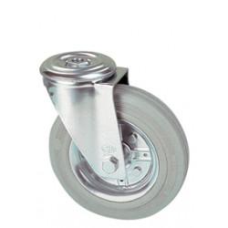 LWR 200/QR   Otočné kolo s šedou antistatickou obručí s otvorem -12