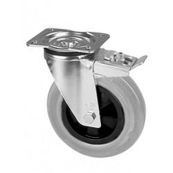 PGB 140/GRD  Otočné kolo s šedou obručí a brzdou
