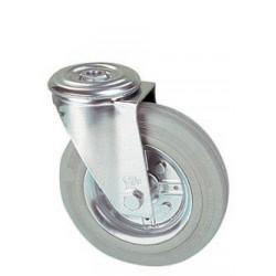 LGB 100A/QR  Otočné kolo s šedou gumovou obručí s otvorem