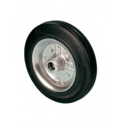 LNK 160  Samostatné kolo  s černou gumovou obručí -12