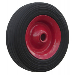 PL 100x30x20  Samostatné kolo na plechovém disku s gumovou obručí