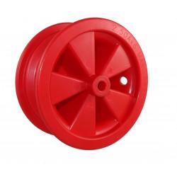 Disk kola samostatný plastový 350 KP (3,50-6)  na kluzné ložisko -12mm