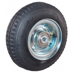 Nafukovací kolo na půleném pozinkovaném disku NB 220 GLV-B1-had -90x15mm