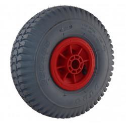 Nafukovací kolo s šedou gumou na plastovém disku NB 260š KP PL-B2-kostičkový-hrubý dezén