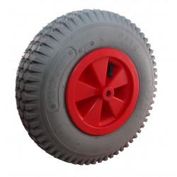 Nafukovací kolo s šedou gumou na plastovém disku NB 350š KP PL-B2-kostičkový -20