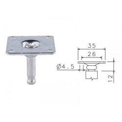 Plotnička ocelová C  35x35 č.166