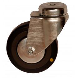 EMAE 050/QLP   Otočné kolo s černou gumovou antistatickou obručí s otvorem