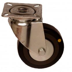EMAE 075/GLP   Otočné kolo s černou gumovou antistatickou obručí