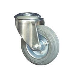 CIN-SED 100/QR  Otočné kolo s šedou obručí