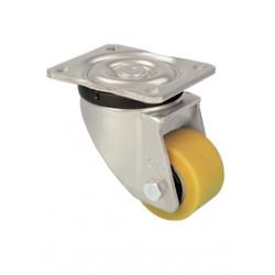 TWK 082/GH Otočné kolo se žlutou polyuretanovou obručí
