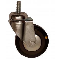 EMAE 100/VLP  Otočné kolo s černou gumovou antistatickou obručí se šroubem
