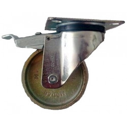 GBA 125/GRD  Otočné kolo ocelolitinové s brzdou