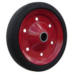 PL 250x52x20  Samostatné kolo na plechovém disku s gumovou obručí