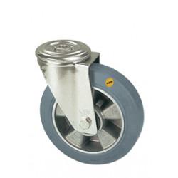 ZNT 125/QR   Otočné kolo s šedou antistatickou obručí s otvorem