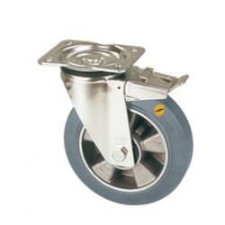 ZNT 200/GMD  Otočné kolo s šedou antistatickou obručí a brzdou
