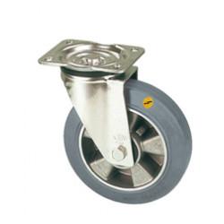 ZNT 125/GM  Otočné kolo s šedou antistatickou obručí