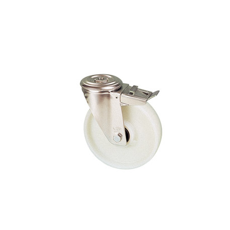 NNE 200A/QRD Otočné polyamidové kolo s otvorem a brzdou