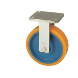 RWK 100/FV  Pevné kolo se žlutou polyuretanovou obručí