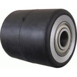 TGK 80X80    Samostatné kolo s hliníkovým diskem a gumovou obručí