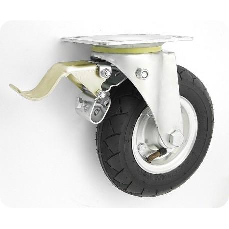 OKP-NB-V200č Z -BR Otočné nafukovací kolo s brzdou