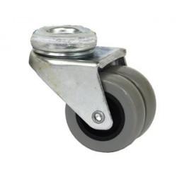 EPA 037x2/QLP - 914037  Otočné polypropylenové dvojkolo šedé