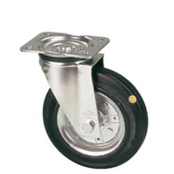LAR 160/GR   Otočné kolo s černou antistatickou gumovou obručí