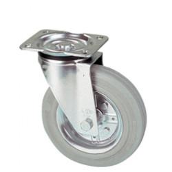 LWR 125/GR   Otočné kolo s šedou antistatickou obručí
