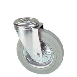 LWR 125/QR   Otočné kolo s šedou antistatickou obručí s otvorem