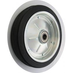 PPL 400x80xGL35č Samostatné kolo na plechovém disku s gumovou obručí