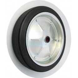 PPL 400x80xJL25č  Samostatné kolo na plechovém disku s gumovou obručí
