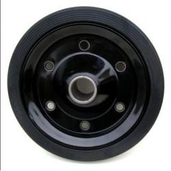PL 350x75x30  Samostatné kolo na plechovém disku s gumovou obručí