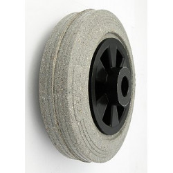 TPB-V080/12š  Samostatné kolo na plastovém disku s gumovou obručí šedá