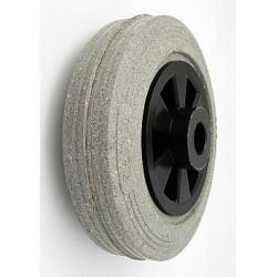 TPB-V125/15š  Samostatné kolo na plastovém disku s gumovou obručí šedá