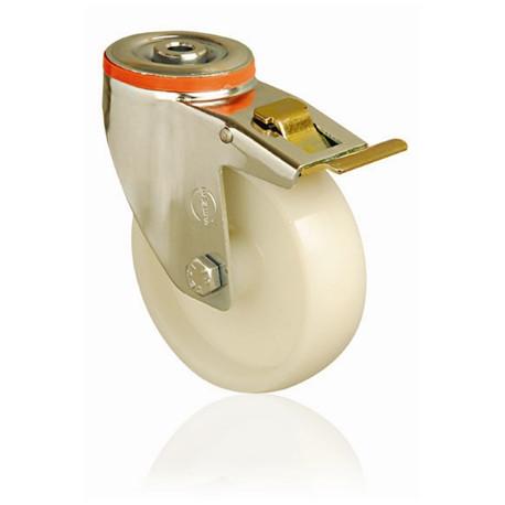NNA 150/QRD Otočné polyamidové kolo s otvorem a brzdou